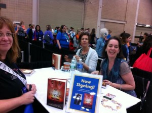 The utterly lovely Cynthia Leitich Smith busy at one of her signings!