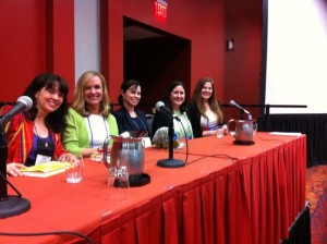 Oh, the company I keep! Here's a quick snap of the panel I sat on: Deb Caletti, Leila Howland, Jennifer E. Smith, and Elizabeth Eulberg. They were wonderful!