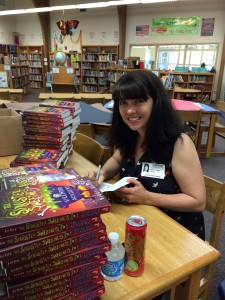 Happiness is signing books for hours. Yes it is!
