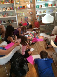 Best idea yet! Young writer's workshop at Beehive Books in Santa Fe. These kids were AMAZING.