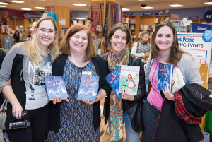 Writer Friends at the launch party! Ariane Felix, Batheny Hegedus, Lindsey Schiebe, and Samantha Clark.