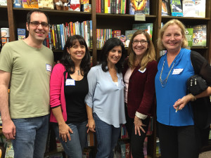 Kavin Sands, me, Christian Diaz Gonzalez, Linda Urban, and Katherine Applegate.