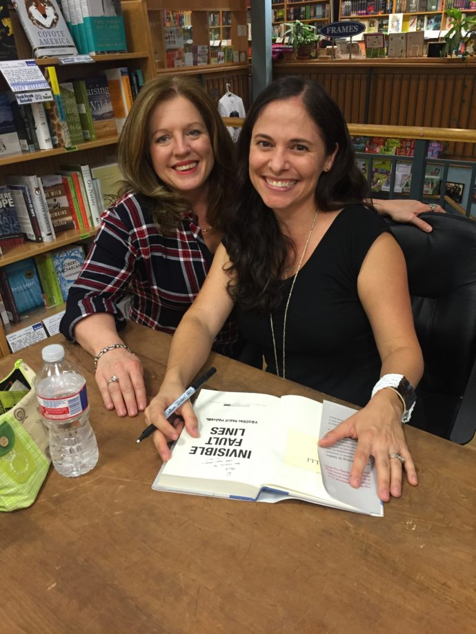 Author and writing teacher Shelli Cornelison gets a book signed, too!